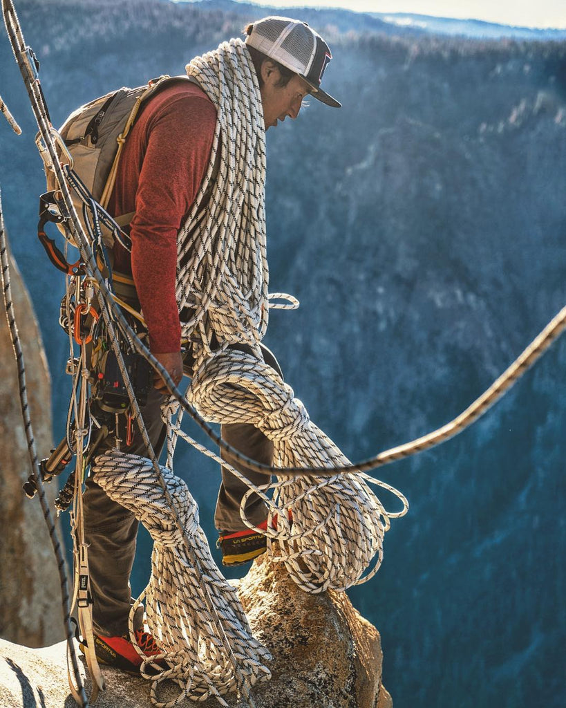 HANAH Hero Jimmy Chin on the set of Free Solo. With plenty of ropes, for himself, not Alex Honnold.