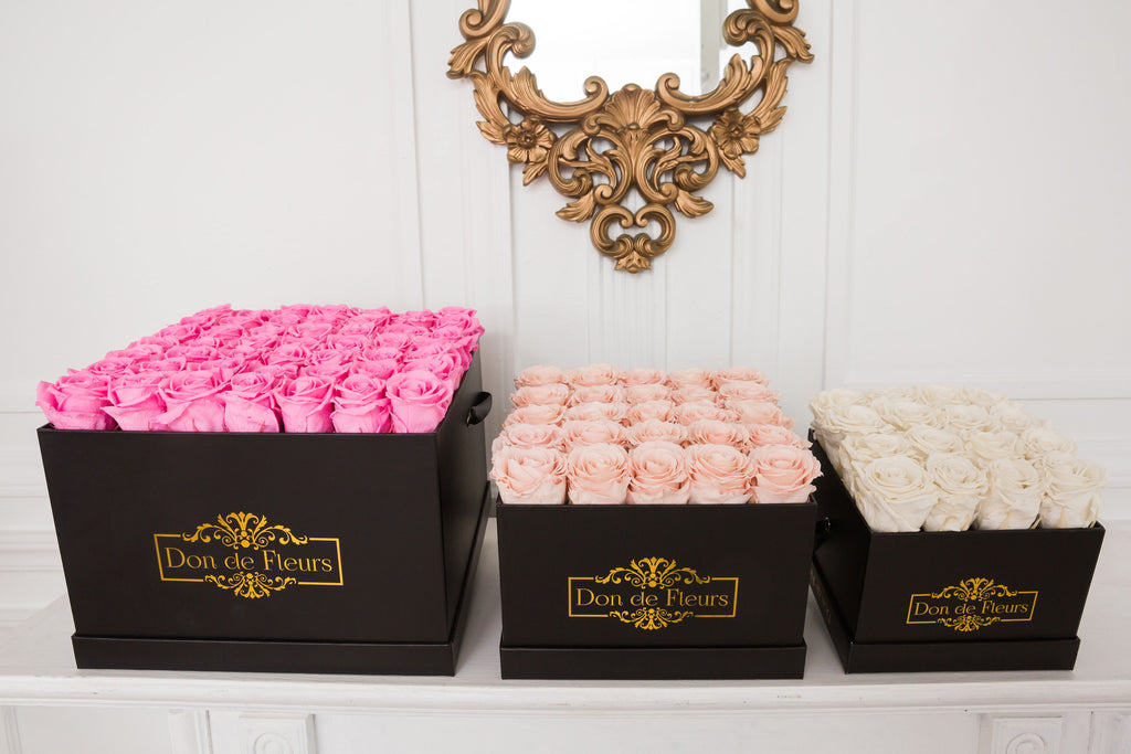Preserved Roses Box Flowers That Last All Year Long Dondefleurs Don De Fleurs