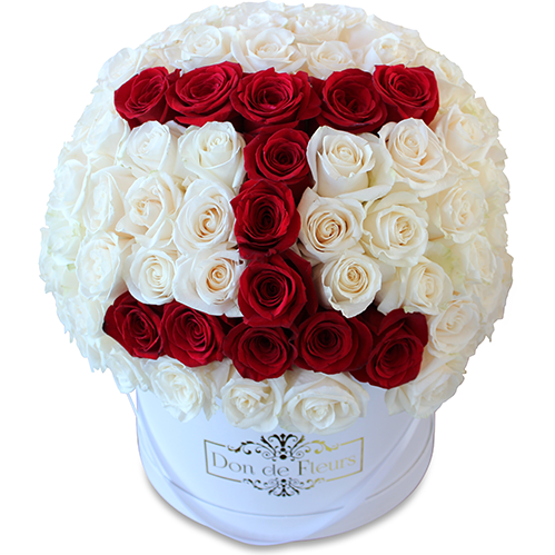 Large Round & Square Custom Box - Fresh Roses