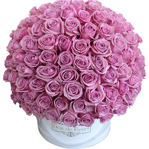 Grandiose Large Round Box (200+ Roses)