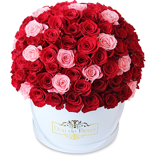 Large Round Box - Fresh Roses