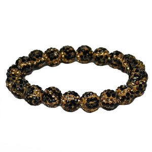 Touch of Glam Bling Stretch Bracelet, Leopard