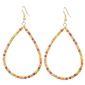 Seedbead Teardrop Earrings, Multi