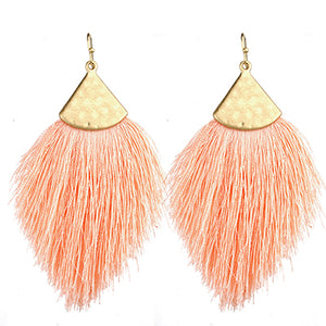 Tassel Earrings, Peach