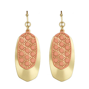 Gold and Peach Earrings