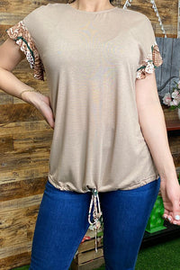 Snake Skin Color Block Top