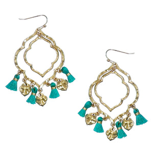 Moroccon Tassel Earrings,Turquoise