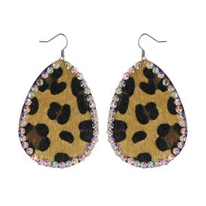 Leopard Fur Earrings