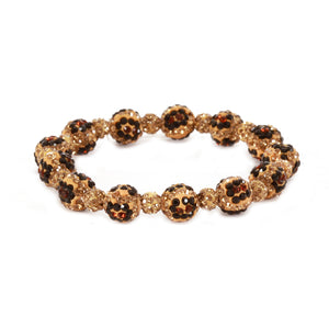 Drop of Glam Bracelet, Leopard