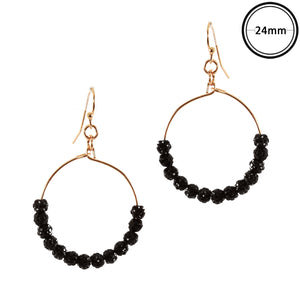Oh So Glam Earrings, Black