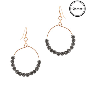 Touch of Glam Earrings, Charcoal