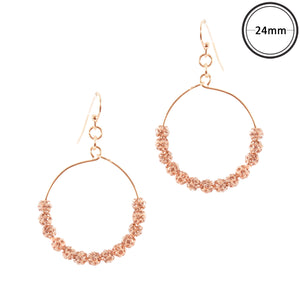 Touch of Glam Earrings, Rose Gold
