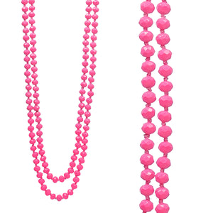 Infinity Necklace, Candy Pink