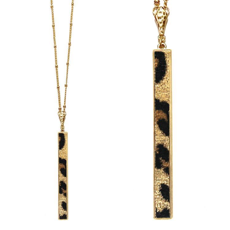 Leopard Metal Pendant Necklace