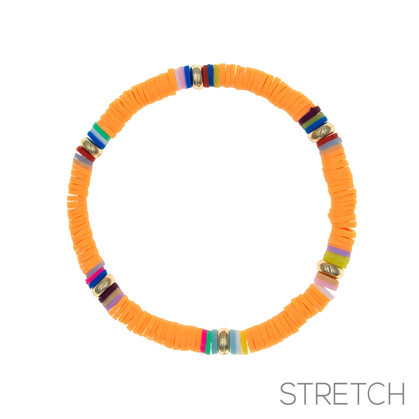 Stretch Bracelet, Orange