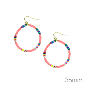 Rubber Disc Earrings