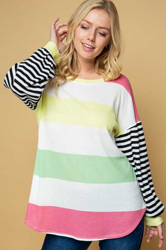 Striped Tunic Top, Multi