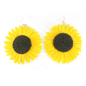 Sunflower Raffia Earrings