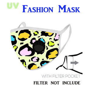 Leopard Pattern Print Fabric Mask