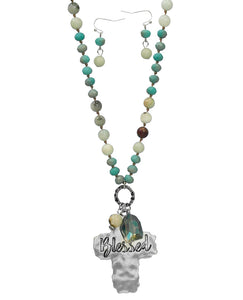Blessed Necklace, Turquoise