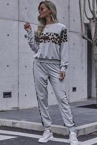 Leopard Lounge Set, Grey