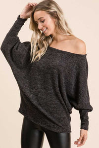 Off the Shoulder Top, Black