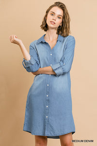 Button Up Dress, Denim