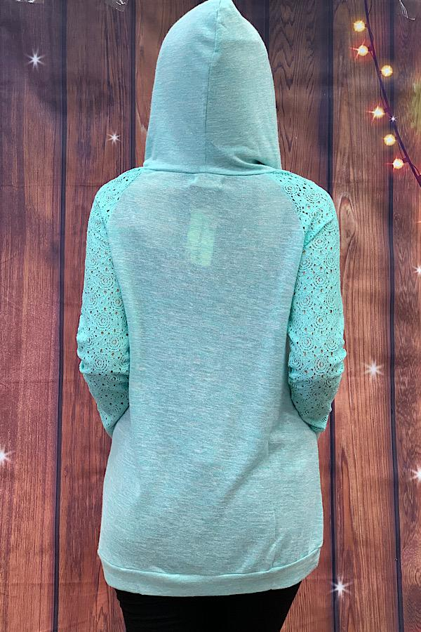 Solid Color Hoodie, Mint