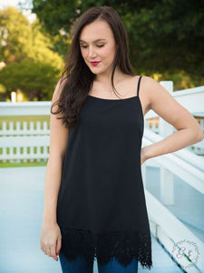 Perfectly Paired Lace Tank, Black
