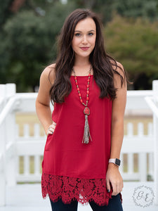 Perfectly Paired Cami Tank, Red