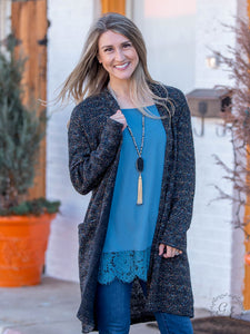 Fetti Textured Cardigan with Pockets