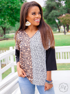 Leopard and Dalmatian Top