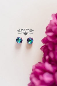 Glam Girl Stud Earrings, Turquoise