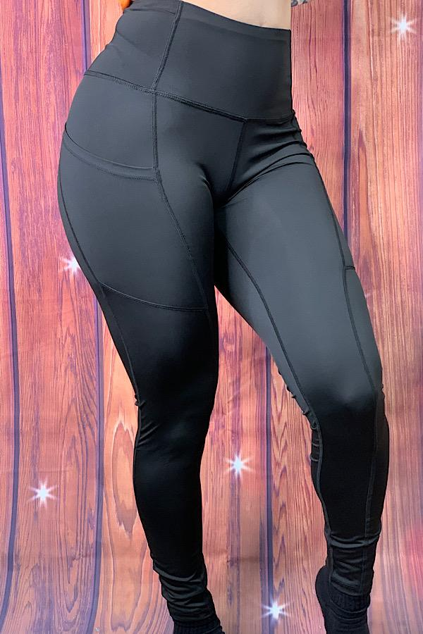 Black Leggings with Side Pockets