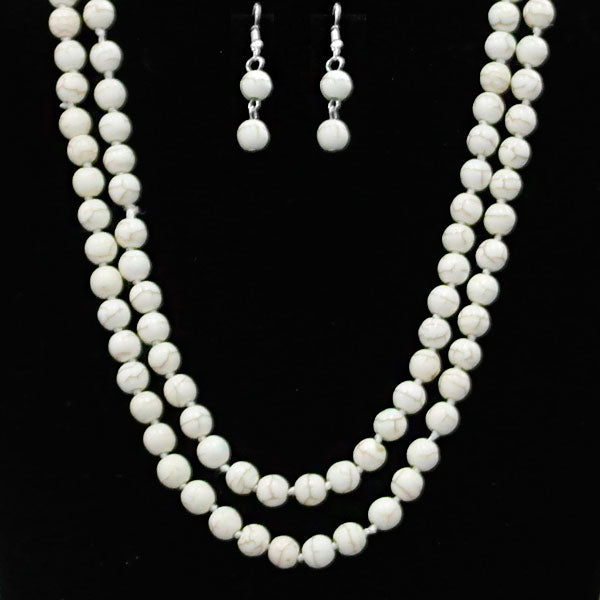 Single Strand Necklace Set, White