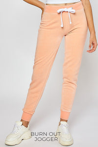 Fleece Jogger Pants, Peach