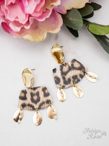 Full of Fun Leopard Earrings