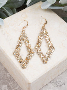 Sparkling Earrings, Gold