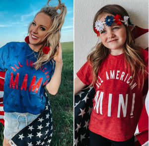 PRE-ORDER American Mama and Mini T-Shirt