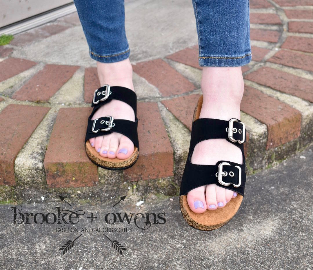 Black Slide Sandal