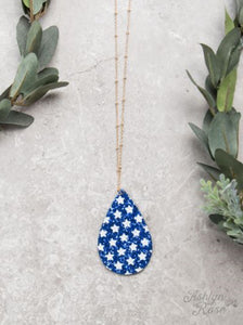 Star Spangled Necklace, Blue