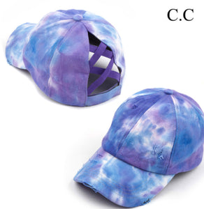 Tie Dye Baseball Cap, Purple/Blue