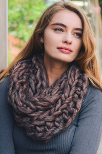 Ultra Soft Chunky Infinity Scarf, Copper