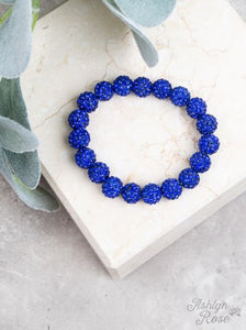 Drop of Glam Stretch Bracelet, Royal Blue