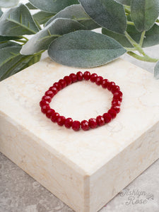 Essential Stretch Bracelet, Lipstick Red