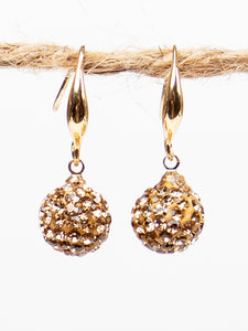 Drop of Glam Earrings, Gold