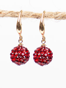 Drop of Glam Earrings, Red