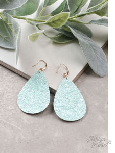 Party Starter Glitter Earrings, Mint