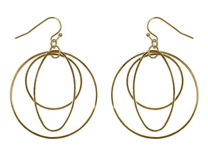 Gold Three Layer Hoop Earrings
