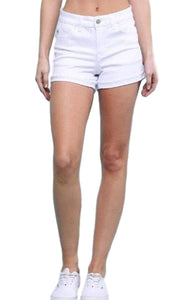 Judy Blue White High Waisted Shorts
